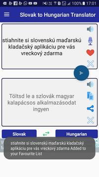 Slovak Hungarian Translator screenshot 2