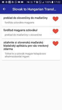 Slovak Hungarian Translator apk screenshot