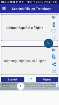 Spanish Filipino Translator poster