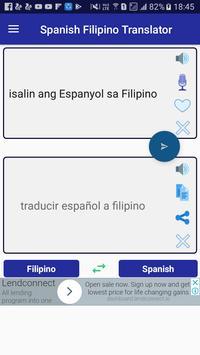 Spanish Filipino Translator screenshot 1