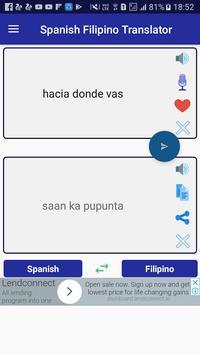 Spanish Filipino Translator screenshot 2