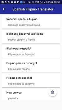 Spanish Filipino Translator screenshot 4