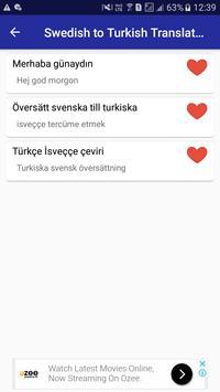 Swedish Turkish Translator screenshot 6