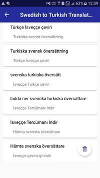 Swedish Turkish Translator screenshot 12