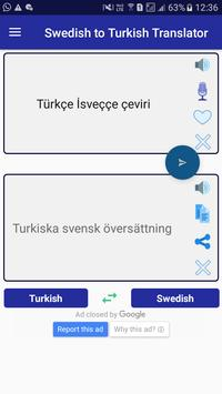 Swedish Turkish Translator screenshot 1