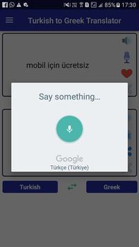 Turkish Greek Translator screenshot 2