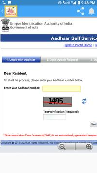 Aadhar card Seva Online India - 2018 apk screenshot