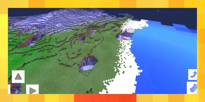Advanced island. Map for MCPE poster