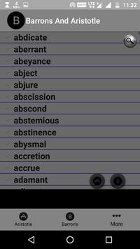 Barron's & Aristotle Vocabulary for GRE Aspirants apk screenshot