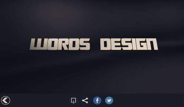 Words Design   تصميم الكلمات screenshot 15