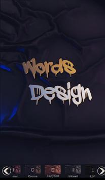 Words Design   تصميم الكلمات screenshot 1