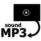 Convert video to sound mp3 icon