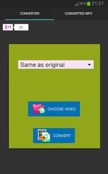Convert video to sound mp3 apk screenshot