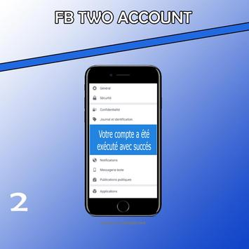 Two account fb pro poster
