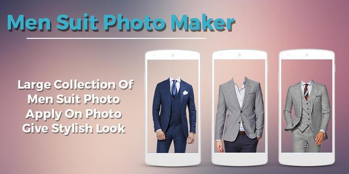Men Suit Photo Maker poster