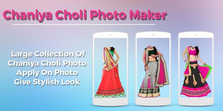 Women ChaniyaCholi Photo Maker poster