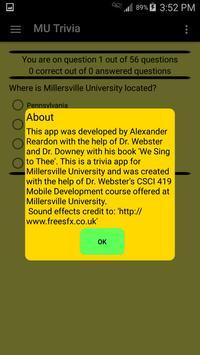 Millersville University Trivia apk screenshot