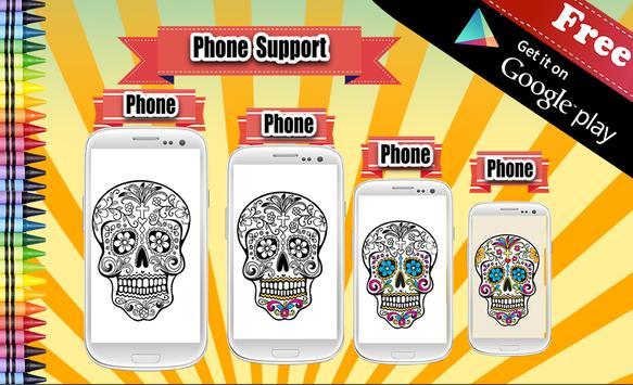 Adult Coloring Sugar Skull screenshot 2