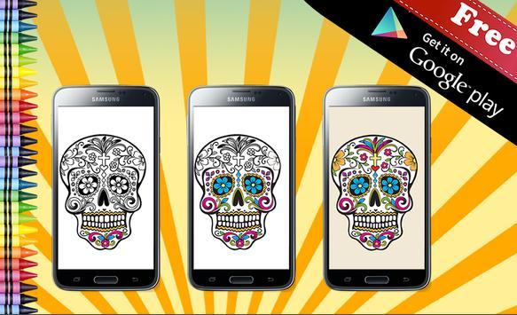 Adult Coloring Sugar Skull screenshot 4