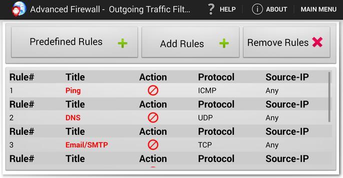 Advanced Firewall screenshot 4