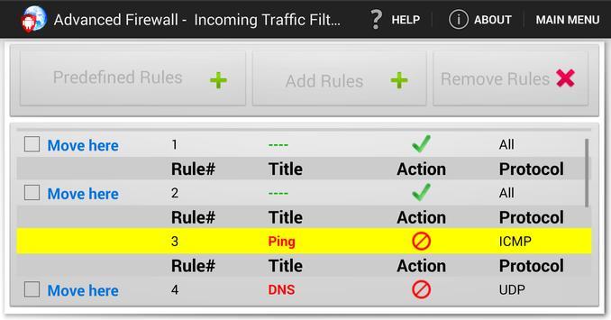 Advanced Firewall screenshot 5
