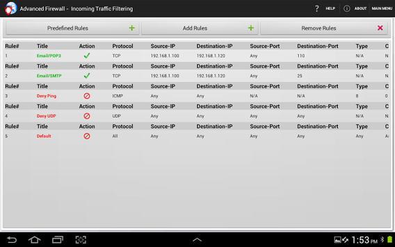 Advanced Firewall screenshot 8