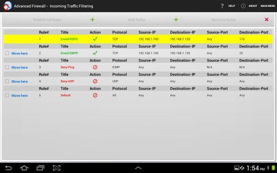 Advanced Firewall screenshot 9