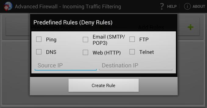 Advanced Firewall screenshot 1
