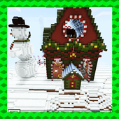 Tomb Crafter. Christmas riddle. MCPE map icon