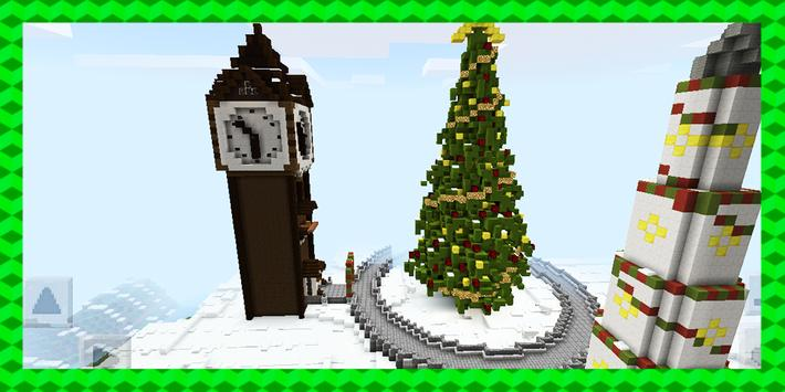 Tomb Crafter. Christmas riddle. MCPE map poster