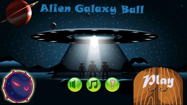 Alien Galaxy Ball poster
