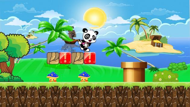 Panshel run adventure Panda poster