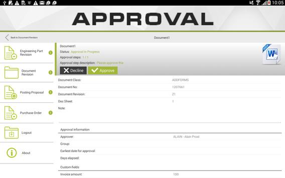 Approval screenshot 9