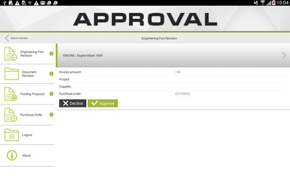 Approval screenshot 1