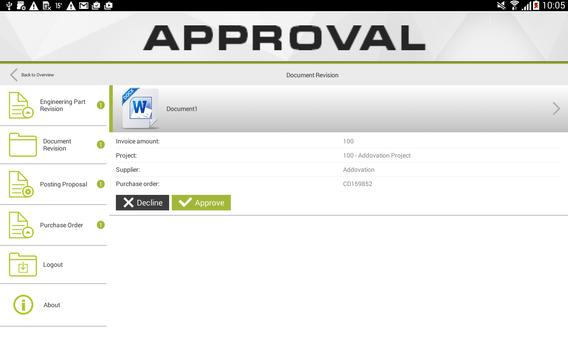 Approval screenshot 2