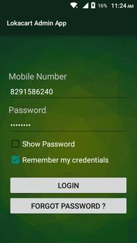 Lokacart Admin App poster