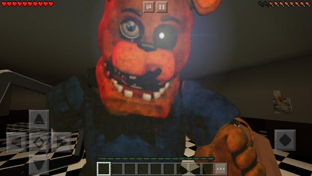 Map Five Nights at Freddy's FNAF for Minecraft poster