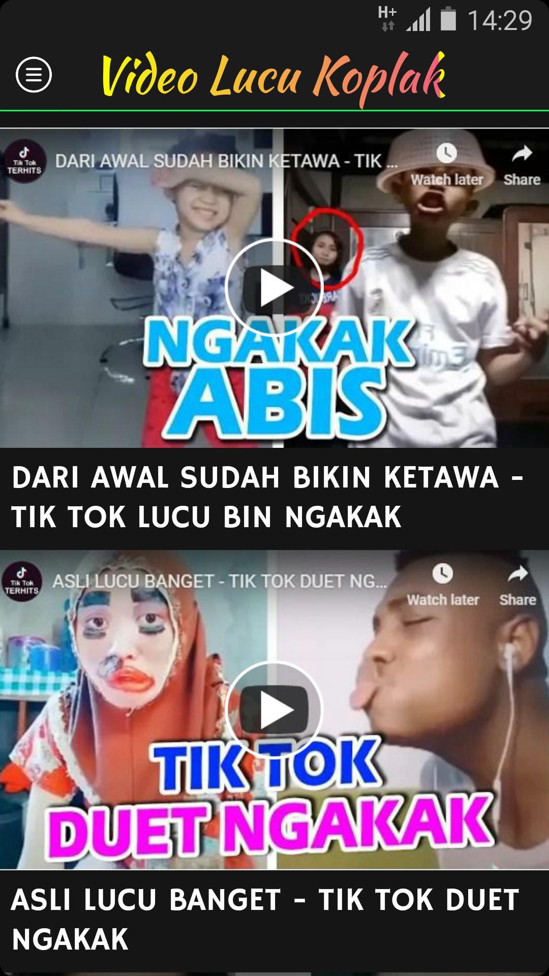 Video Tik Tok Lucu Koplak For Android Apk Download