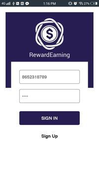 RewardEarning apk screenshot