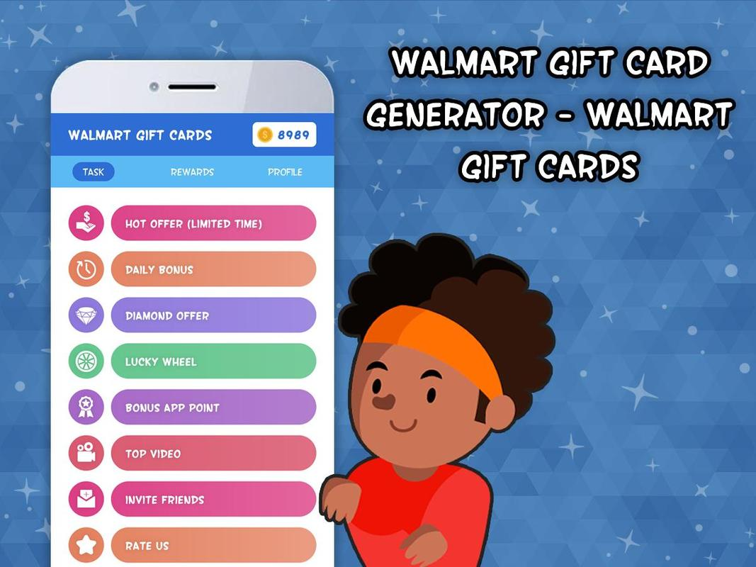 Walmart Gift Card Generator For Android - Gift Ideas