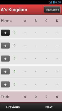 Trex Scorecard HD (free) apk screenshot