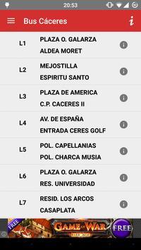 Bus Cáceres screenshot 1