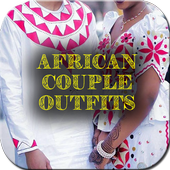 African Couple Dresses icon