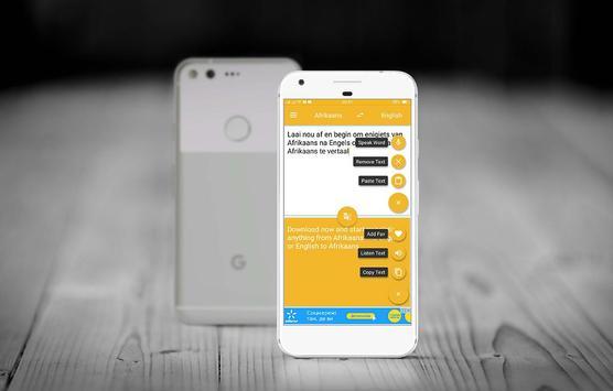 Translate Afrikaans to English apk screenshot