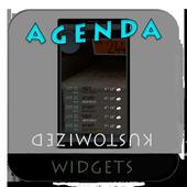 Agenda to Maps Kustom Widget icon