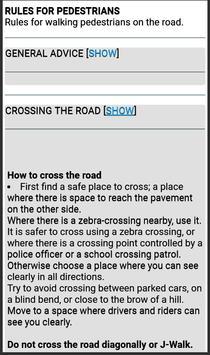The Highway Code Singapore apk screenshot