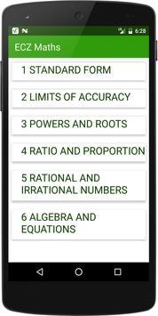 Education Council of Zambia Maths Revision screenshot 1