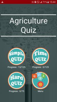 Agriculture Quiz poster