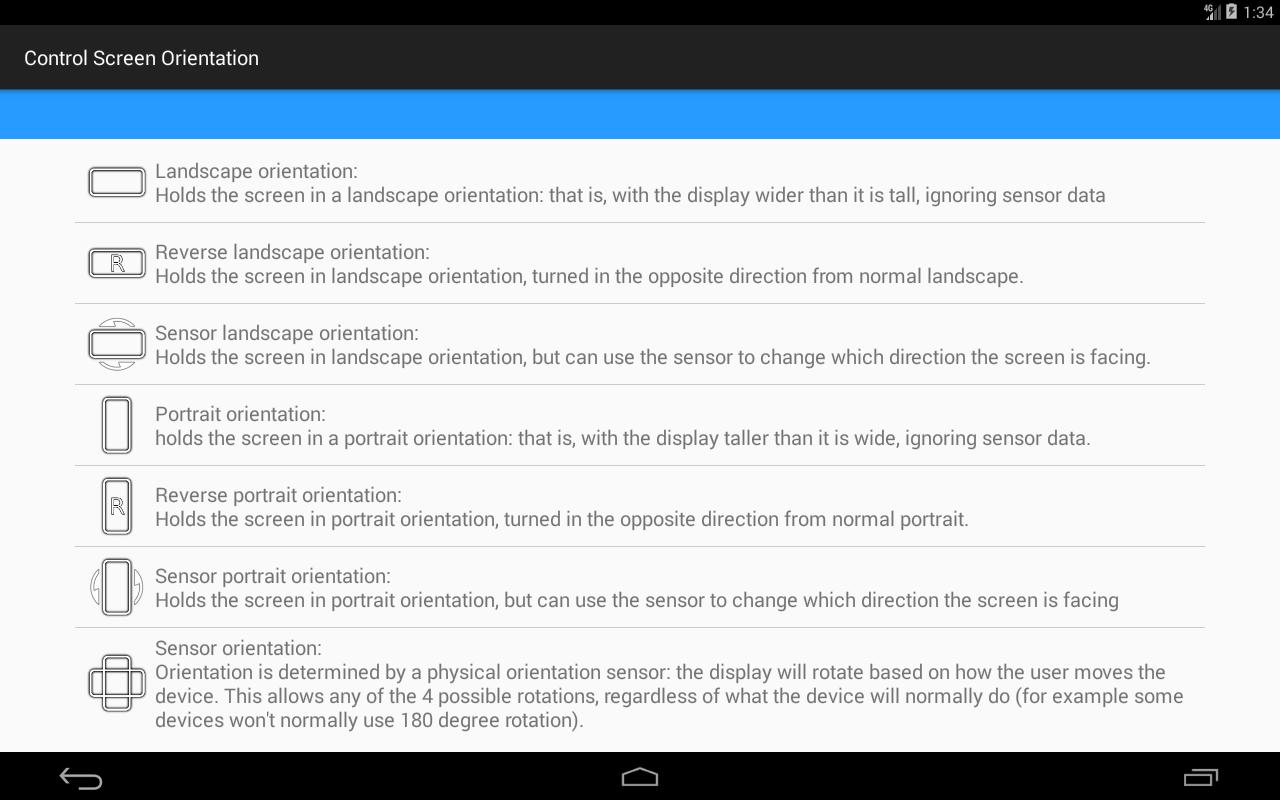 control screen rotation for Android - APK Download
