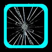 fake cracked screen prank icon